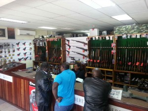 Inside Sporting Guns Shop